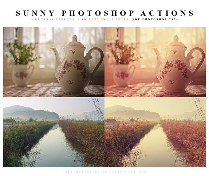 Sunny Photoshop Action