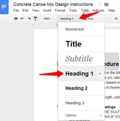table of contents google docs how to (1)
