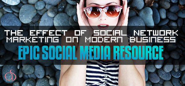 The Effect of Social Network Marketing on Modern Businesses