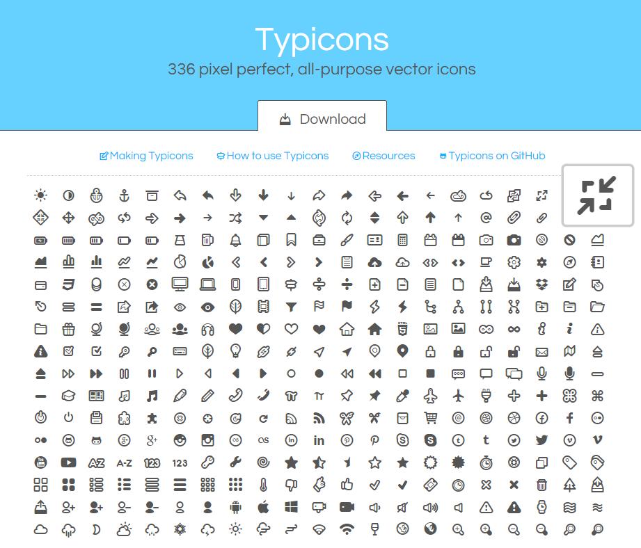 typicons-web-font-icons
