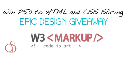 Win PSD to HTML and CSS Slicing from W3-Markup.com
