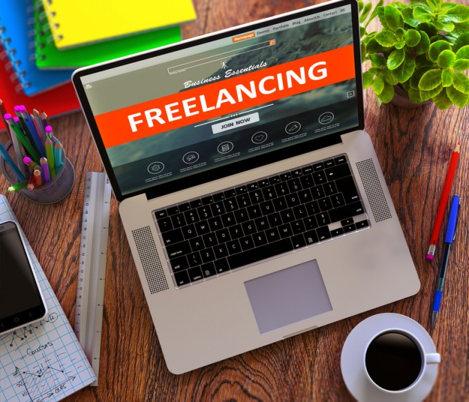 Freelancing on Laptop Screen - making money from home