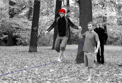 Rope walk and selective cap