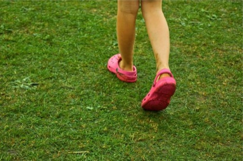 Happy crocs feet