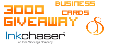 InkChaser.com 3,000 FREE Business Card Giveaway!