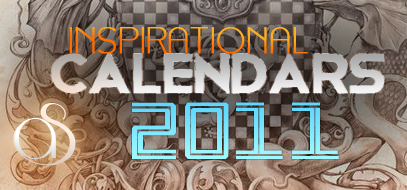 Quickie Roundup – Best Calendar Design Inspirations & Tutorials (how to) of 2011 (so far)